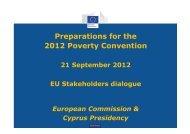 2012 Poverty Convention - European Public Health Alliance