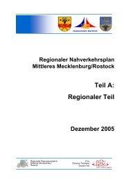 Teil A: Regionaler Teil - Planungsverband Region Rostock
