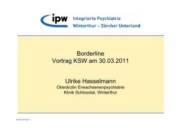 Borderline Persönlichkeitsstörung - Integrierte Psychiatrie Winterthur