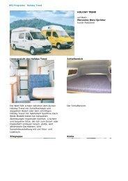 HOLIDAY TREND auf Basis Mercedes-Benz Sprinter kurzer ...