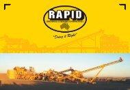 Company Brochure - Rapid Crushing and Screening Contractors