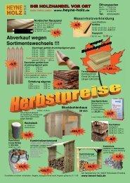 03382 HeyneHolz Angebot Herbst - Heyne Holz GmbH in ...