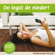 Do legst de nieder! - Holzhandel Hirsch