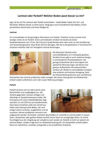 01-Laminat oder Parkett_mit Bildern - Parkett-Store24