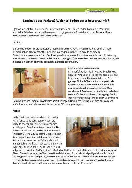 01 Laminat Oder Parkett Mit Bildern Parkett Store24