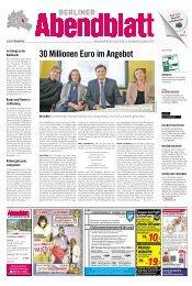 30 Millionen euro im angebot - Berliner Abendblatt