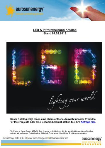 LED & Infrarotheizung Katalog - Sonnendeal