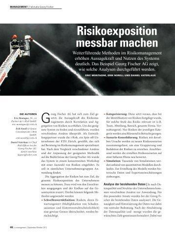 Risikoexposition messbar machen - i-Risk GmbH