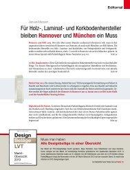 Für Holz-, Laminat- und Korkbodenhersteller bleiben Hannover und ...
