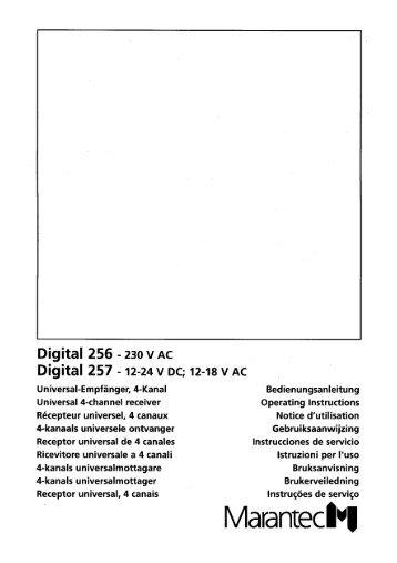 Digital 256/257 - Marantec