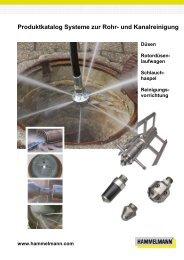 Produktkatalog Systeme zur Rohr- und Kanalreinigung