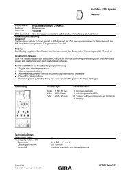 instabus EIB System Sensor Wochenschaltuhr 2-Kanal 1073 00