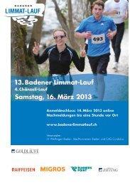 Programm Limmat-Lauf 2013 - Badener Limmat-Lauf