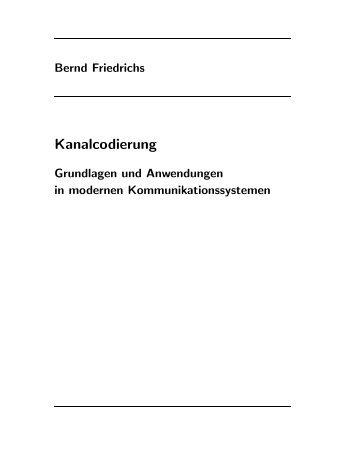 Kanalcodierung - Friedrichs, Bernd