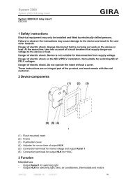 1 Safety instructions 2 Device components 3 ... - Download - Gira