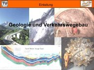 Geologie und Verkehrswegebau - TU Wien