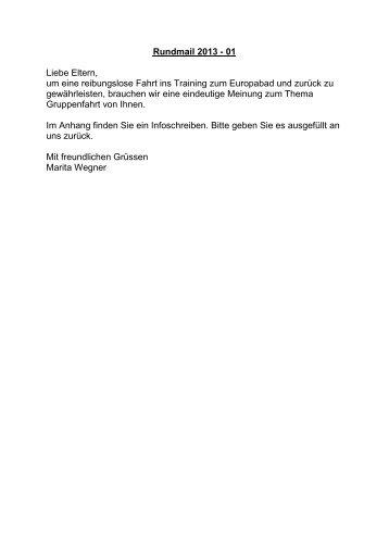 Rundmail 2013 - DLRG Ortsgruppe Kandel