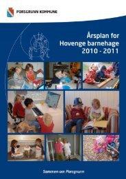 Årshjul for Hovenga og Radehuset barnehage 2010/11 - Porsgrunn ...