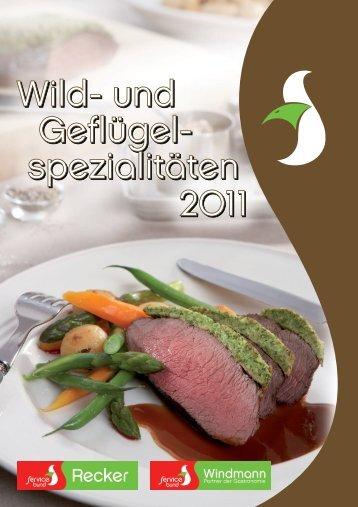 Wild- und Geflügel- spezialitäten Wild- und Geflügel ... - Windmann