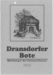 Ganzseitiger Faxausdruck - Ortsausschuss Bonn-Dransdorf