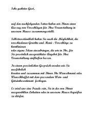 Sehr geehrter Gast, - Gasthaus Schlossberg Wolfegg