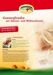 Gaumenfreuden - bei Richter Fleischwaren