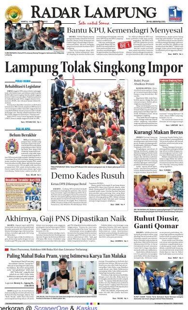 Lampung Tolak Singkong Impor Scraperone