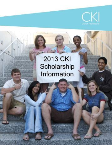 2013 CKI Scholarship Information