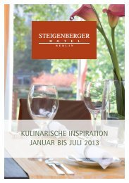 Kulinarischer Kalender - Steigenberger Hotels and Resorts