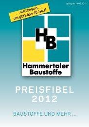 Gesamte Preisfibel Teil 1 - Hammertaler Baustoffe