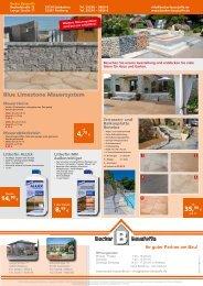Blue Limestone Mauersystem - Becker Baustoffe