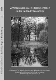 Anforderungen an eine Dokumentation in der Gartendenkmalpflege