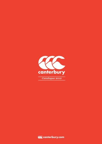 Catalogue CANTERBURY 2012-2013 - Vangi Sport