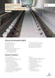 RefeRenzen feSte fahRbahn 7.2 - Vigier-Rail