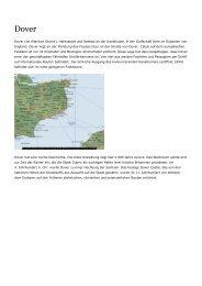 Dover (im Altertum Dubris), Hafenstadt und Seebad an der ...