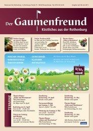 Gaumenfreund 2-2011 - Restaurant zur Rothenburg