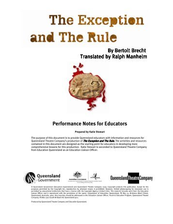 The Exception and The Rule - Queensland Theatre Company