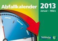 Download Abfallkalender Januar bis März 2013 - Monheim am Rhein
