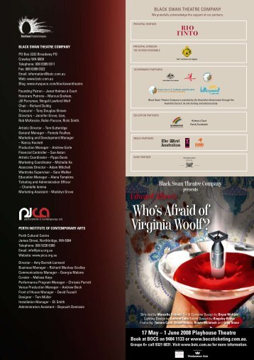 Download programme - Black Swan State Theatre Company