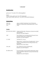 Curriculum Vitae - Fachbereich Philosophie und ...