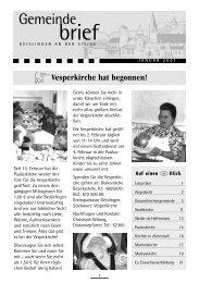 Ausgabe Januar 2007 - Evangelischer Kirchenbezirk Geislingen