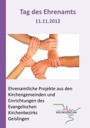 Reader zum Ehrenamtstag am 11. November 2012 - Kirchenbezirk ...