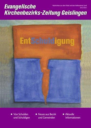 Ausgabe 2012/13 - Kirchenbezirk Geislingen