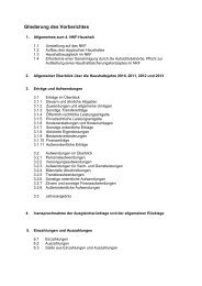 Gliederung des Vorberichtes - Stadt Mettmann