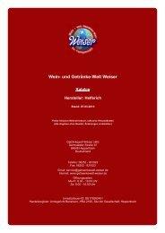 Katalog für Hersteller: Helferich - und Getränke-Welt Weiser