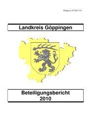 Beteiligungsbericht 2010_Enfassung - Landkreis Göppingen