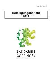 Beteiligungsbericht 2011 - Landkreis Göppingen