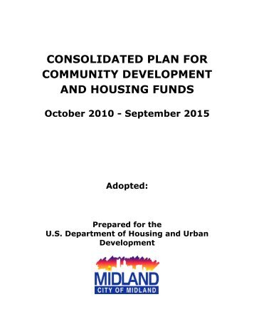 consolidated plan for community development and housing funds