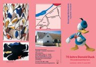 Flyer 70 Jahre Donald Duck - Ingolstadt