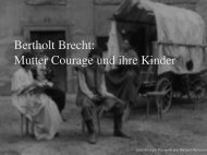 Bertholt Brecht: Mutter Courage und ihre Kinder
